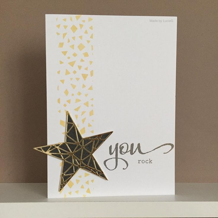 funny personal wedding card matter%0A Fun You Rock card with gold star