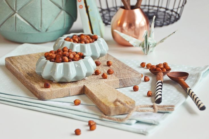 Rezept für geröstete Kichererbsen zum Knabbern - mit Honig und Zimt oder scharf | luzia pimpinella FOOD