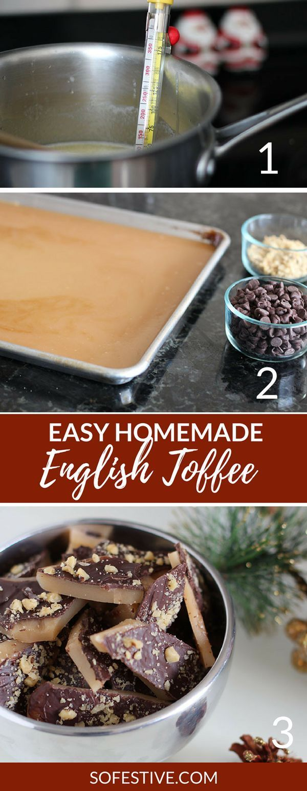 Easy Homemade Toffee Recipe- a Christmas recipe