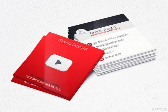 Youtube Business Cards Social Media Design And Printing 16pt
