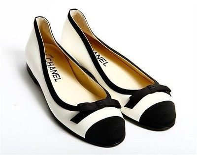 I pinned this because the Chanel Ballerina flats would go great for the office when you want to take the heels off.