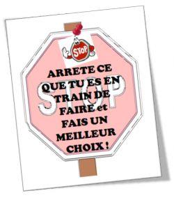 """Cartes """"Stop"""" pour ne pas crier !  www.tdah.be"""
