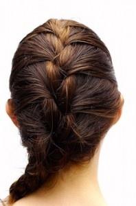 French braid black hair