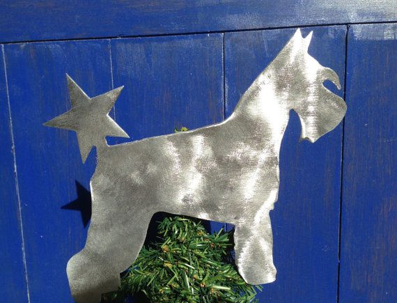 Schnauzer Standard Schnauzer Dog Tree Topper by ScreenDoorGrilles, $24.00