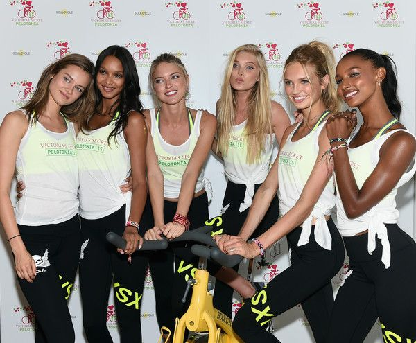 Six hot Victoria's Secret Angels' Charity Ride for Pelotonia - Zimbio Monika Jak,Lais,Martha,Elsa,Romee and Jasmine 8th July 2015