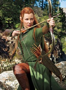 Evangeline Lilly As Tauriel-LOTR-The Hobbit: The Desolation of Smaug