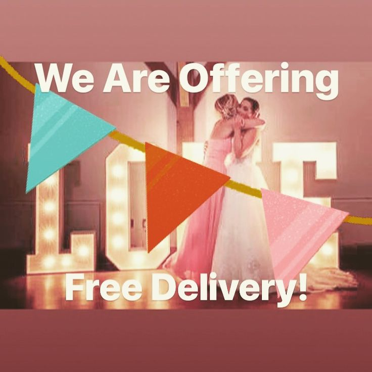 Free wedding hire delivery for Northants and Milton Keynes! Love lights, wedding games and much more!