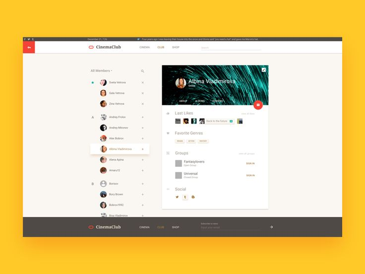 User interface by @vito_kz