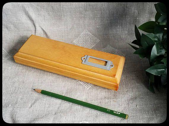 Vintage wooden pencil or ballpoint pen box