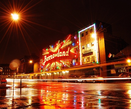 The Barrowland which used to be a ballroom, and is now home to some of Glasgow's best music events.