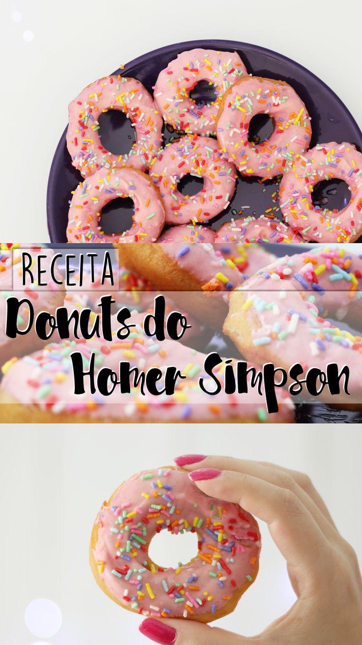 Receita de donuts de chocolate branco inspirado na série de TV  Os Simpsons!