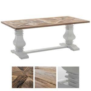 CLP Table de salle à manger stable TABOA, Table robuste faite à la main avec précision, 3 dimensions au choix