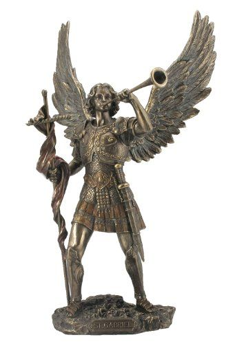 Archangel St. Gabriel Statue with Messenger's Trumpet Statue Sculpture Unicorn Studios http://www.amazon.com/dp/B00C78XYEM/ref=cm_sw_r_pi_dp_WoWuwb02XVHYM
