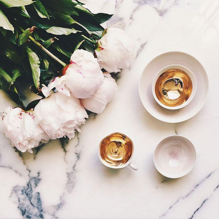 Gilded Espresso Cups – Set of 2