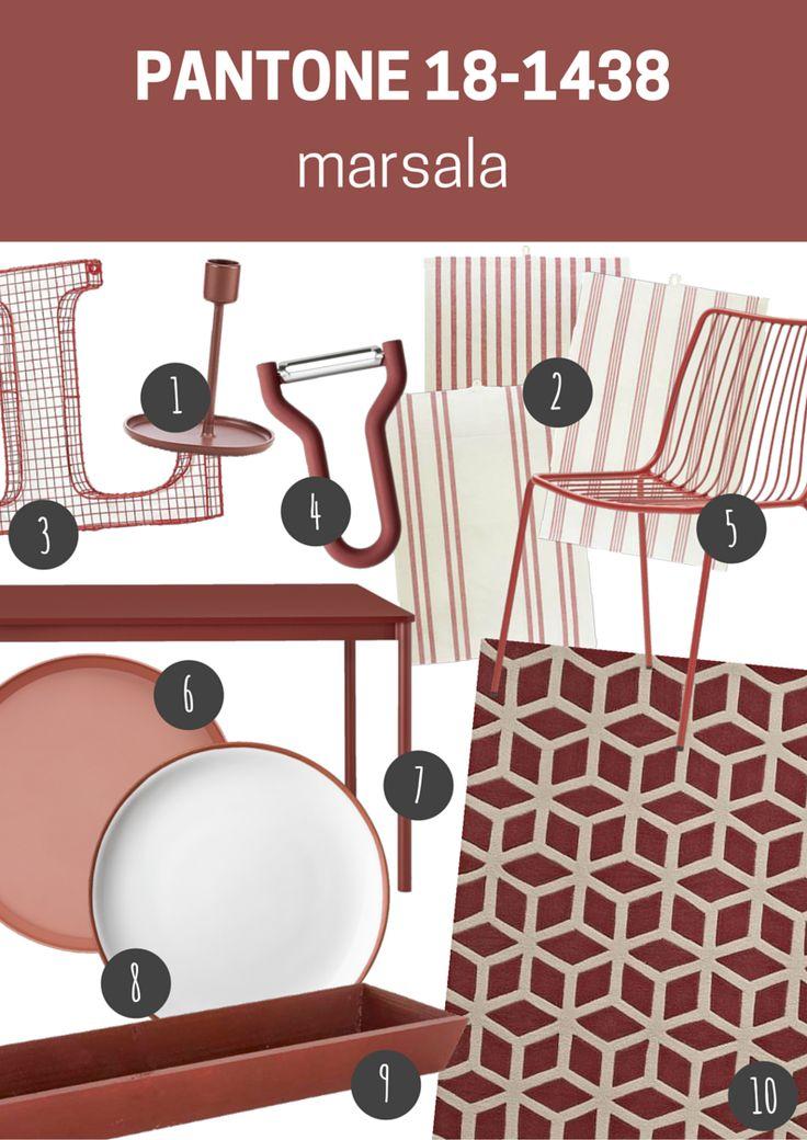 pantone 18-1438 marsala | meble i dodatki do wnętrz w kolorze marsala // marsala furniture and home accessories