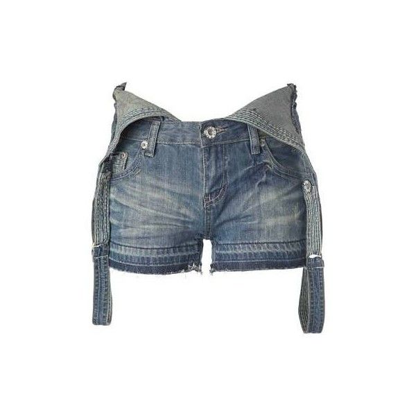 Denim Dungarees - Shorts and Crops - New Look ($22) ❤ liked on Polyvore