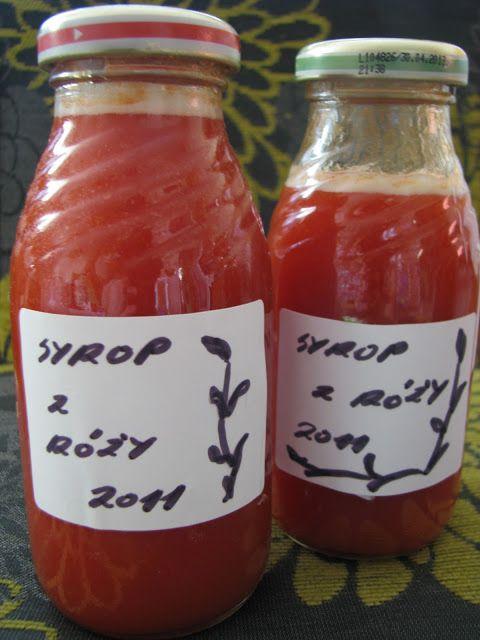 Szczęśliwa w kuchni...: Syrop z dzikiej róży