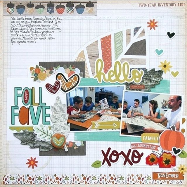 Spotted: some bits and pieces from the Oakley Avenue collection on this layout created by @wantenucci! . . #prettylittlestudio #oakleyavenue #scrapbooking #papercrafts #plsspotted