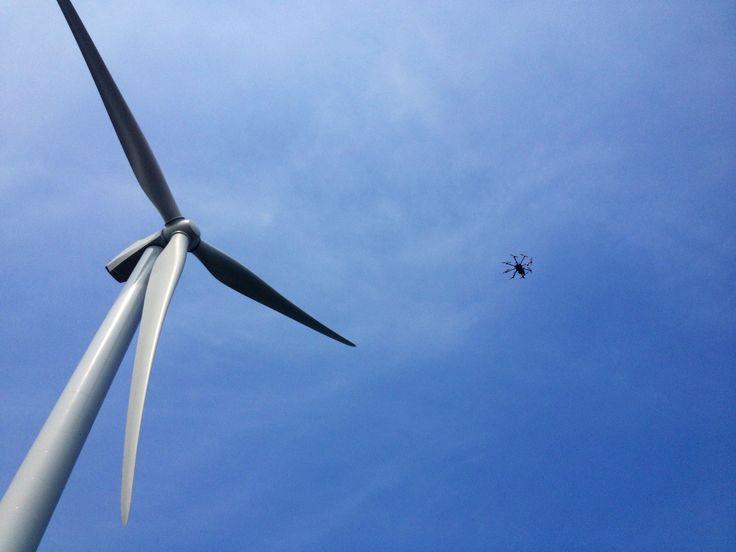 Wind turbine filming