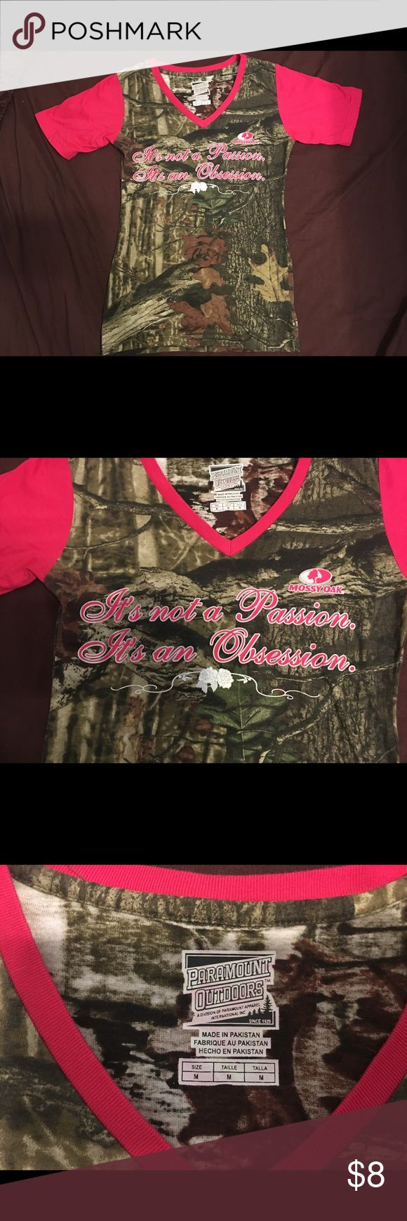 Camo shirt Really cute quoted camo tee Mossy Oak Tops Tees - Short Sleeve