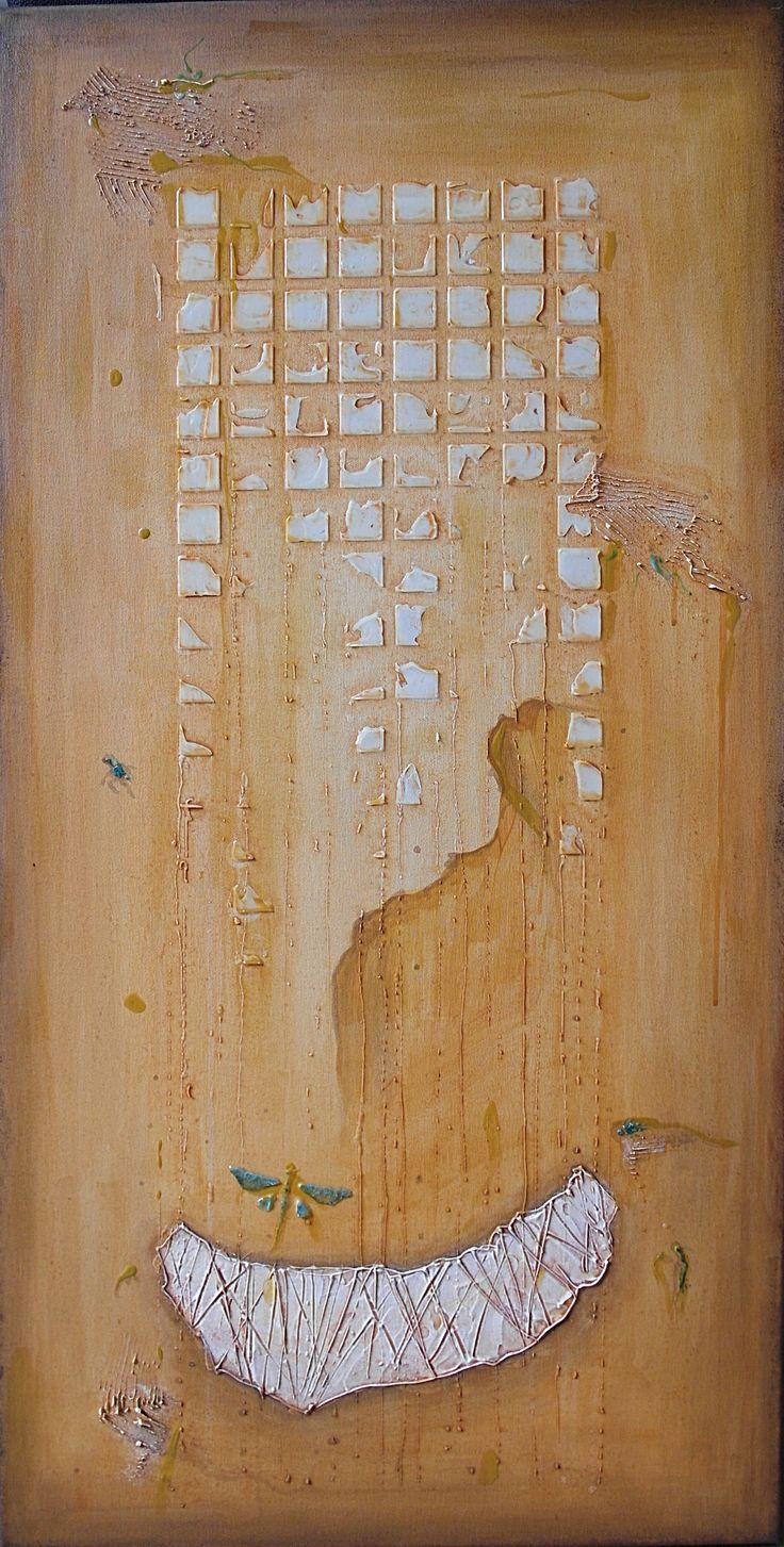 4-2015, 100x50 cm, mixed media on canvas
