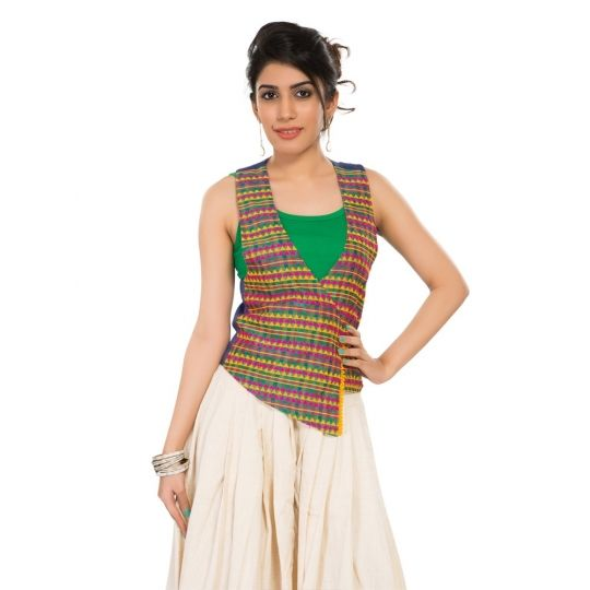 Paisley swing waistcoat online shopping India | India Circus | Sweet Couch