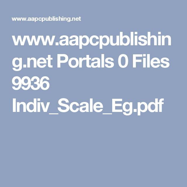 www.aapcpublishing.net Portals 0 Files 9936 Indiv_Scale_Eg.pdf