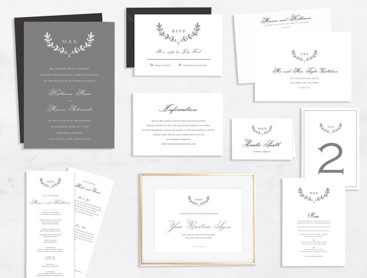 DIY Printable Wedding Invitation Suite | Classic Grey Wedding Invitation Suite | Collection | Instant Download | DIY Wedding Invitations by ShopMargaretMakes on Etsy https://www.etsy.com/listing/468058795/diy-printable-wedding-invitation-suite