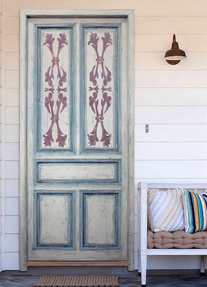 Puerta Antigua De Paso Pintada A Mano Pasos Para Pintar Puerta Antigua Tonos De Verde