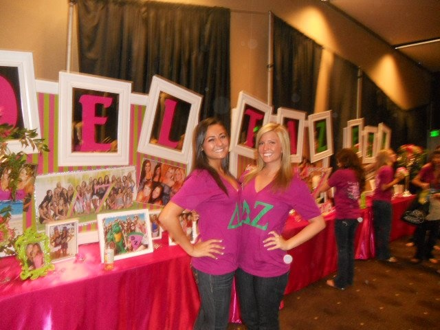 Brag tables! Letters in picture frames
