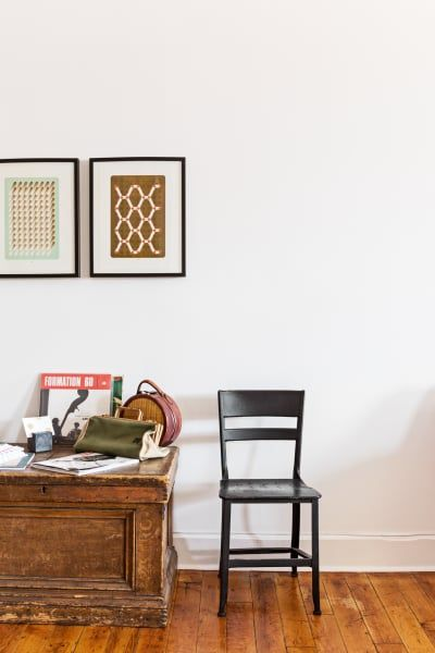 Vintage Chest And Chairs In The Entryway