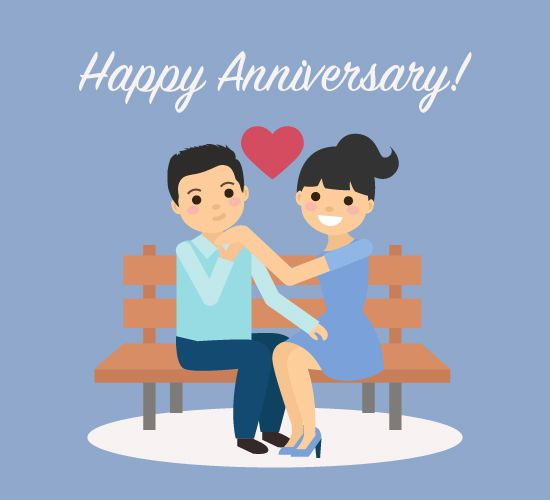 Celebrating your first #love #anniversary? Make it special in every way start it with a cute wish using this #ecard. #HappyAnniversary #free #cards #greetings #wishes.