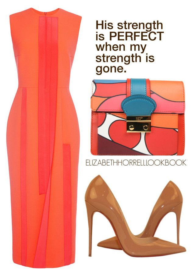 LIZ by elizabethhorrell on Polyvore featuring Roksanda, Christian Louboutin and RED Valentino