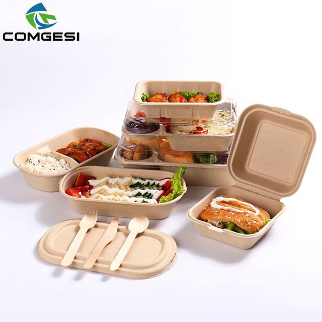 Source Disposable Paper Packaging Take Away Lunch Bowl Fast