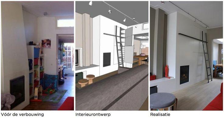 Ideeen woonkamer inspiratie, kleine keuken oplossing ...