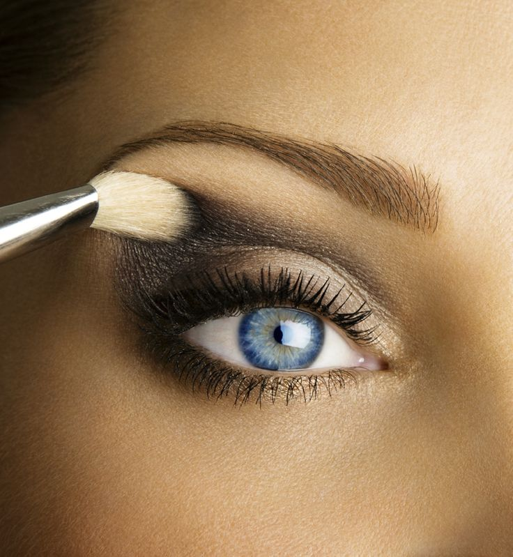 "Give your eyes an at-home ""lift"" using makeup: create a full eyebrow (using a pencil or powder), then curl your eyelashes and apply black mascara to the top and dark brown to the bottom. Together this draws the attention upward, giving you a more youthful appearance."