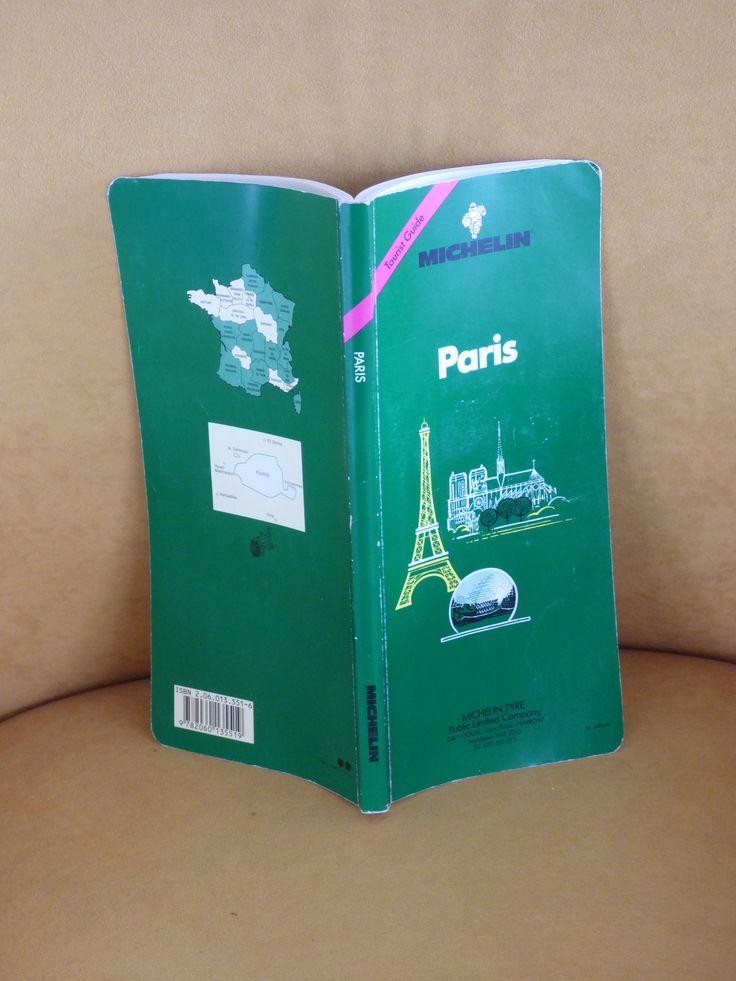 Paris!  Vintage 1990 Michelin Tourist Guide - Michelin Tyre Public Limited Publication - Clean - Vintage GPS - Maps - Photos - Information by ChicAvantGarde on Etsy