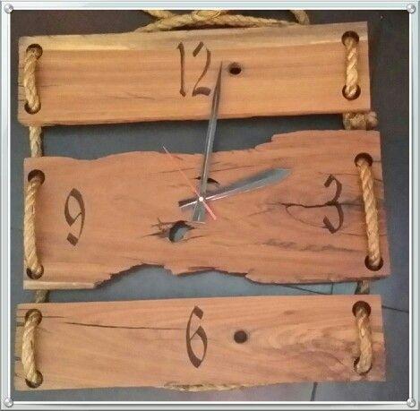 Sleeper wood clock done by shane