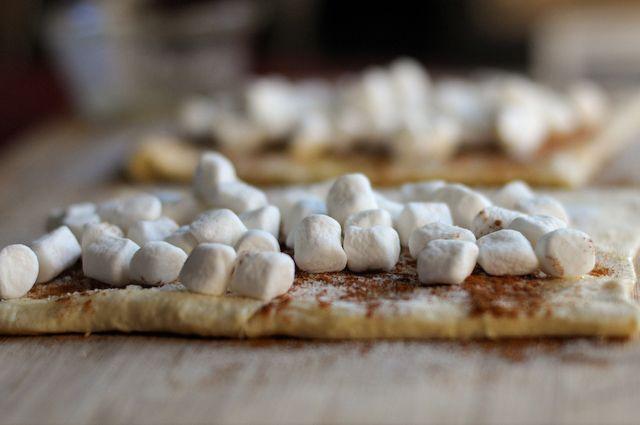 Toasted marshmallow cinnamon rolls...