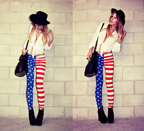 American Flag leggings. Ridiculously coooool...Happy 4th!