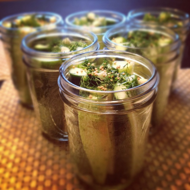 Homemade garlic & dill pickles | Eat, drink, and be merry | Pinterest