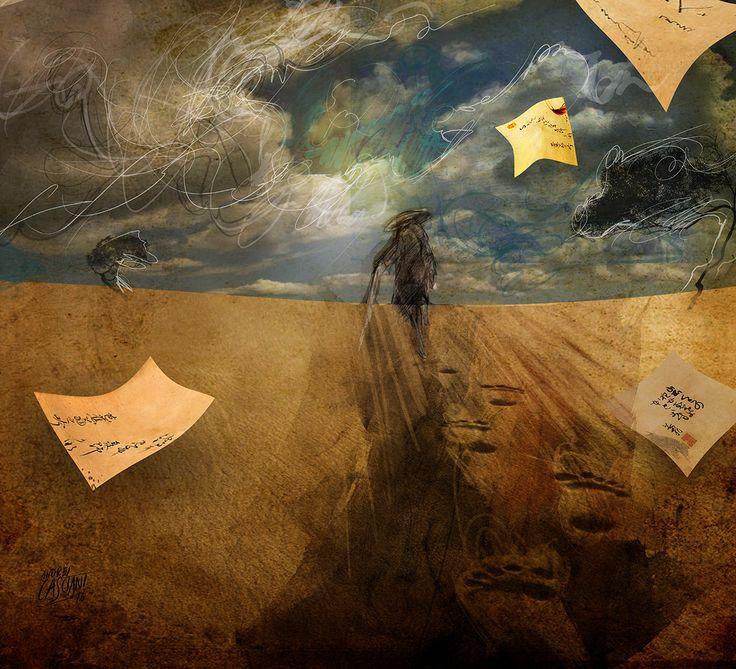 """""""Los hijos de los días"""" - Galeano ilustrado por Casciani 27/12 - acá podés leer el texto: http://andrescasciani.blogspot.com.ar/2016/12/los-hijos-de-los-dias-galeano-ilustrado_28.html"""