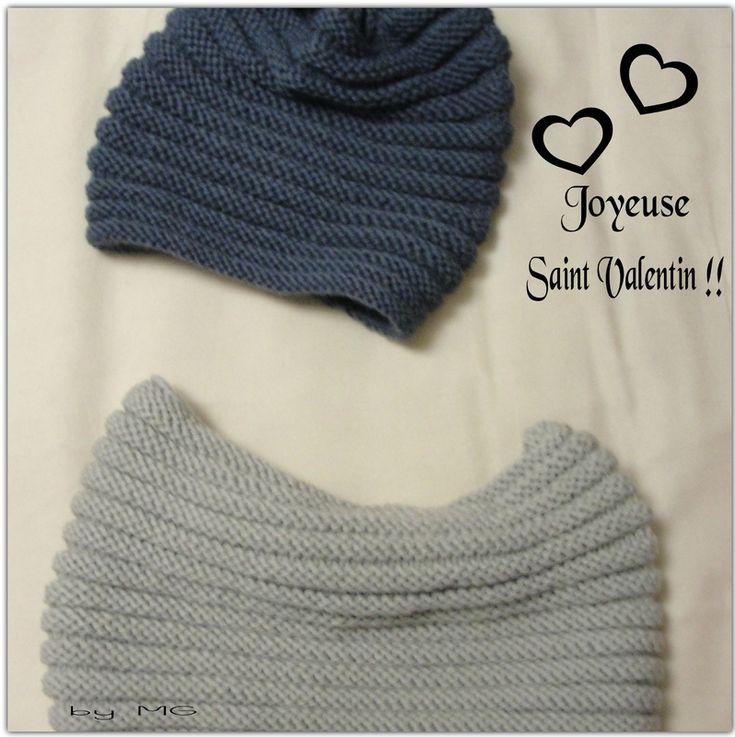 Snood et bonnet Saint Valentin !