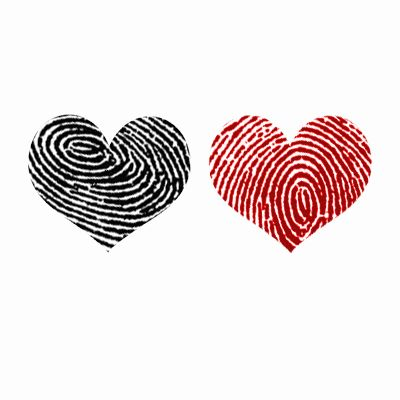Imprint your love on someone this Valentine's Day with sweet red or black heart prints temporary tattoos!