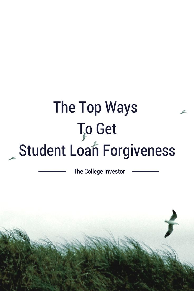 There are many ways to get student loan forgiveness, including volunteer work, medical studies, the military, or law school.