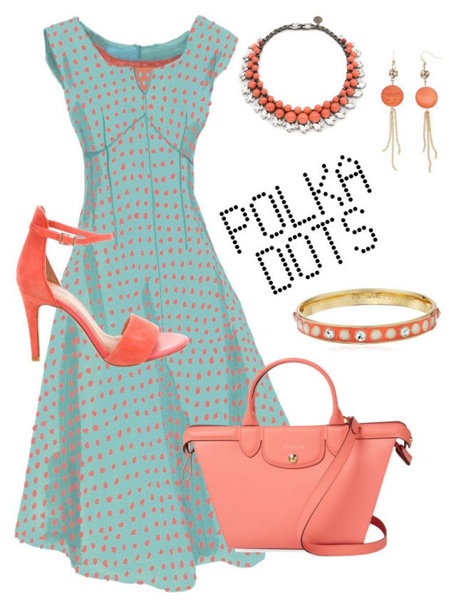 """Dots Fun"" by debatron on Polyvore featuring Joie, Longchamp, Ellen Conde and Kate Spade"