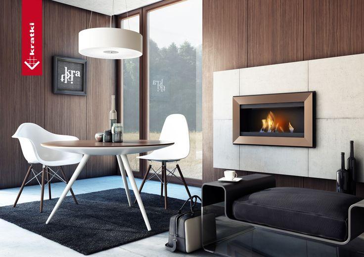 Biofireplace Charlie #kratki #biofireplace #interior #salon #diningroom