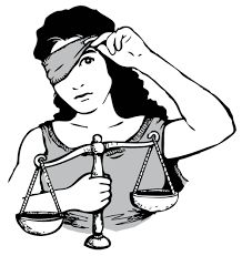blindfolded lady justice - Google Search