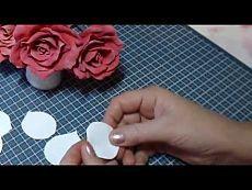 Мк роза из фоамирана, тонировка и формирование лепестков / Прочие виды рукоделия / Флористика, топиарии