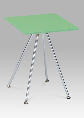 83467-02 LIM Odkládací stolek v limetkově zelené barvě v kombinaci s chromem.